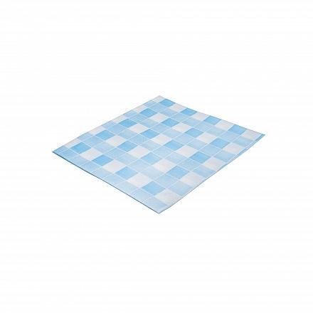 Wecoline disposable nonwoven theedoek 38 x 40 cm blauw/wit , 80 stuks