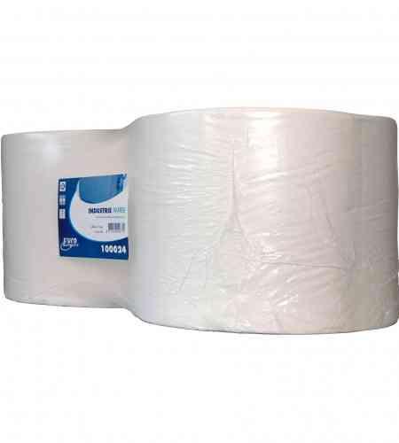 Industriepapier 1-lgs 1000 mtr x 24 cm, 2 rollen