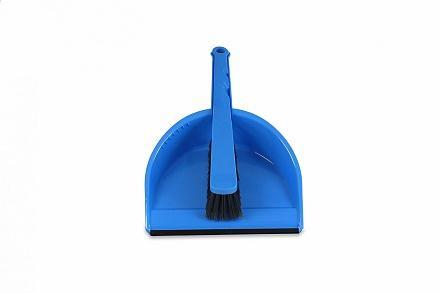 Stoffer en blik met rubber rand kunststof blauw