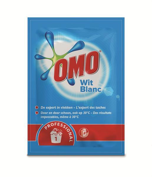 Omo sachets waspoeder, witte was, 75 x 100 gram