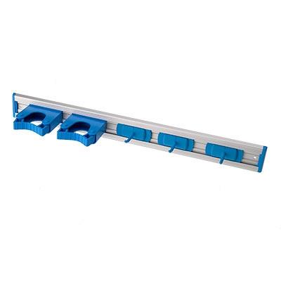 Hillbrush steelhouder met 3 haken blauw