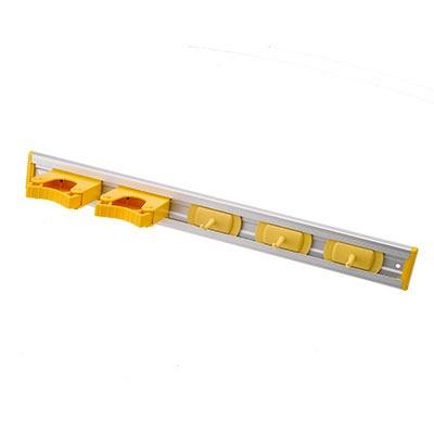 Hillbrush steelhouder met 3 haken geel
