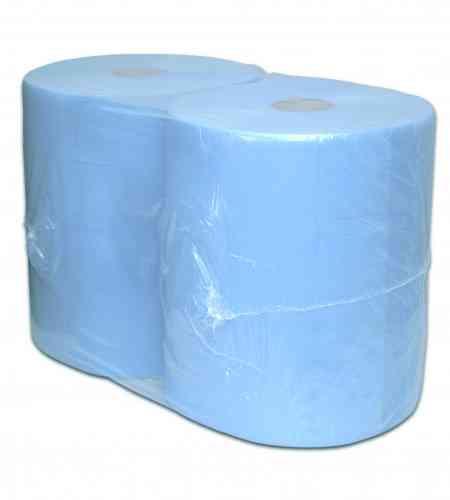 Industriepapier 2-lgs blauw 380 mtr x 37 cm, 2 rollen