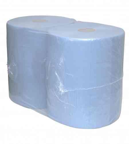 Industriepapier 3-lgs blauw 190 mtr x 37 cm, 2 rollen