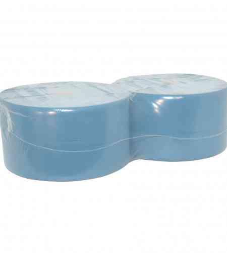 Industriepapier 3-lgs blauw 350 mtr x 22 cm, 2 rollen