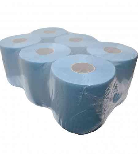 Poetspapier midi 2-lgs blauw 150 mtr x 20 cm, 6 rollen