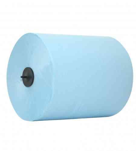 Handdoekrol Euro Matic 2-lgs blauw 150 mtr x 21 cm, 6 rollen