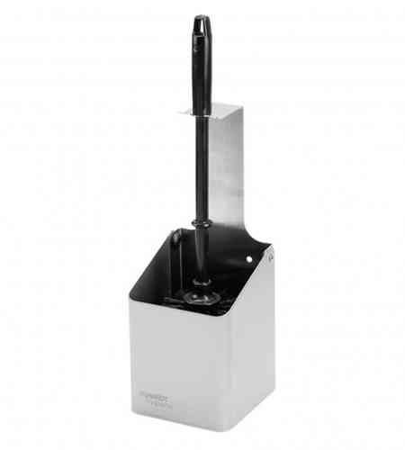 Santral RVS toiletborstelhouder, open model incl. zwarte borstel