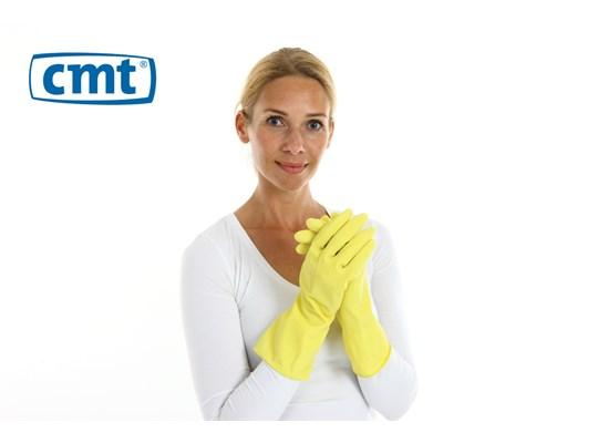 Huishoudhandschoen rubber geel mt. XL