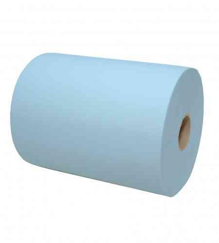 Handdoekrol Mini Matic 2-lgs blauw 165 mtr x 18.3 cm, 6 rollen