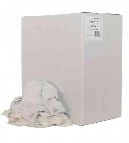 Poetslappen DWT Dunne witte tricot doos 10 kg