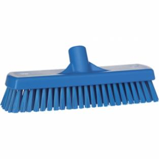Vikan vloerschrobber 30 cm blauw harde vezel