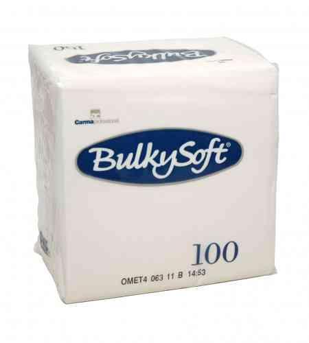 Bulkysoft servet 2-lgs 24 x 24 cm 1/4 wit, 3000 stuks