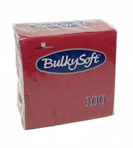Bulkysoft servet 2-lgs 24 x 24 cm 1/4 bordeaux, 3000 stuks