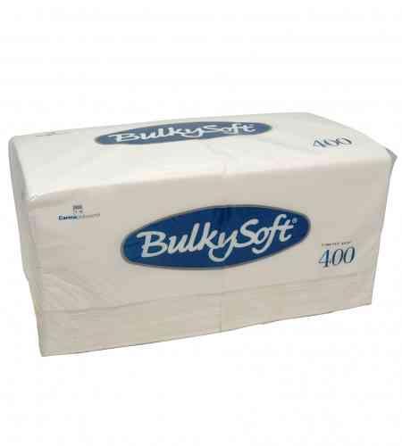 Bulkysoft servet 1-lgs 33 x 33 cm 1/4 wit, 4000 stuks