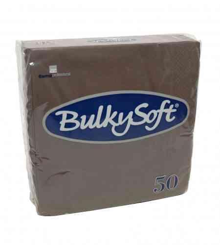 Bulkysoft servet 2-lgs 33 x 33 cm 1/4 bruin, 1200 stuks