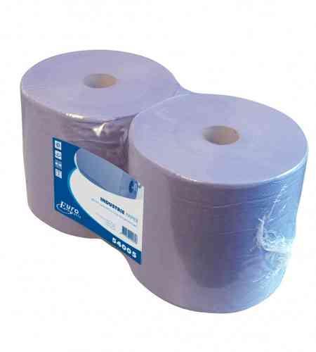 Industriepapier 2-lgs blauw 380 mtr x 26 cm, 2 rollen