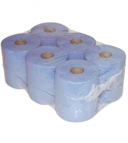 Poetspapier midi 1-lgs blauw 300 mtr x 20 cm, 6 rollen
