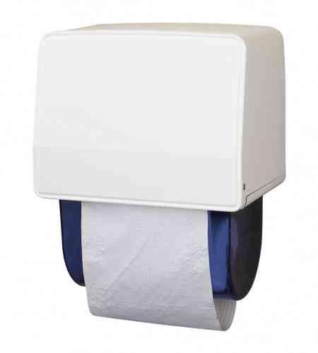 Dudly handdoekrolautomaat staal wit gemoffeld