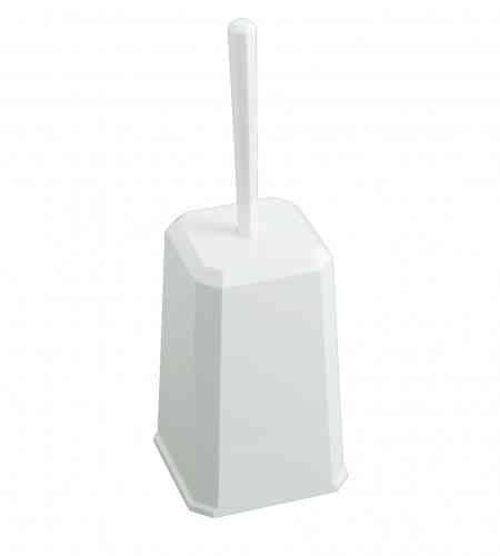 Toiletborstelhouder kunststof wit, inclusief borstel