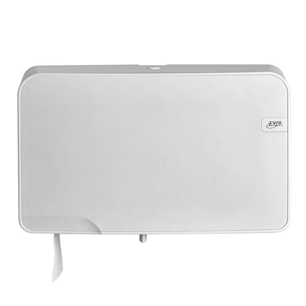 Quartz White toiletrolhouder Duo Mini Jumbo
