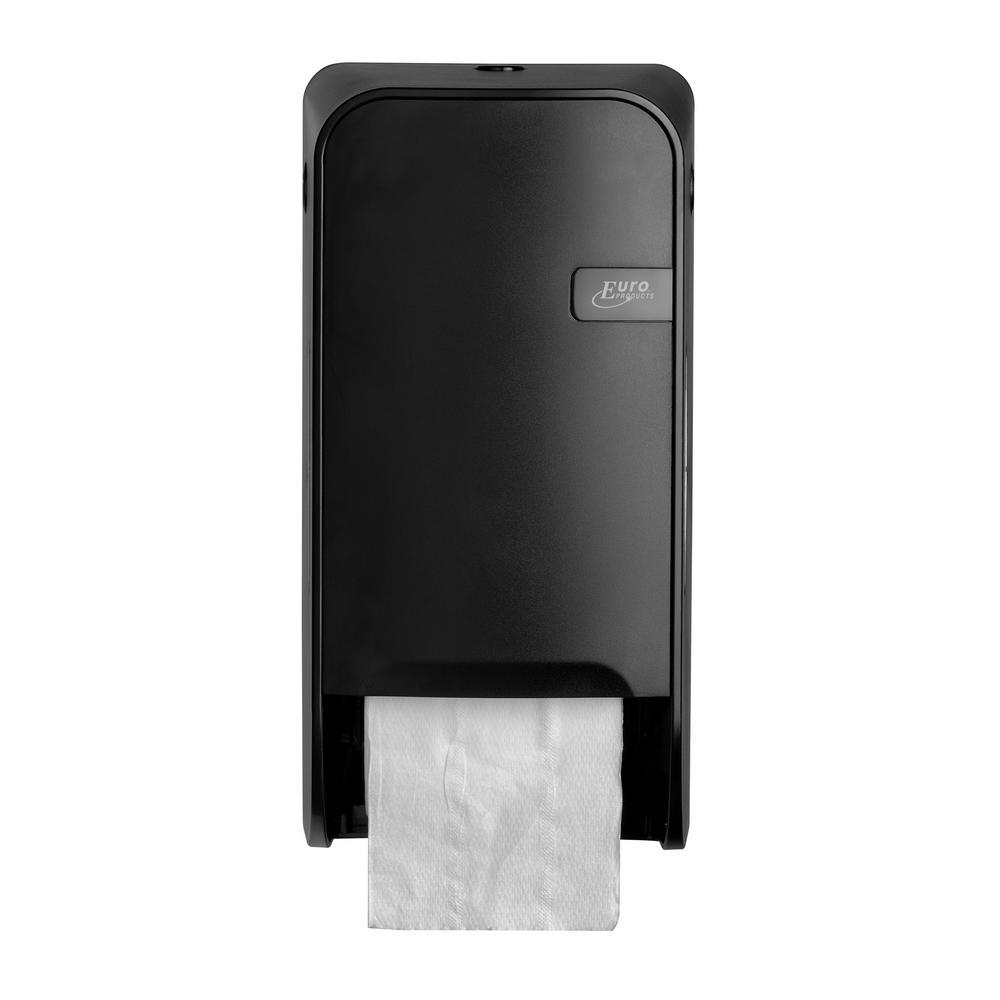 Quartz Black toiletrolhouder doprollen