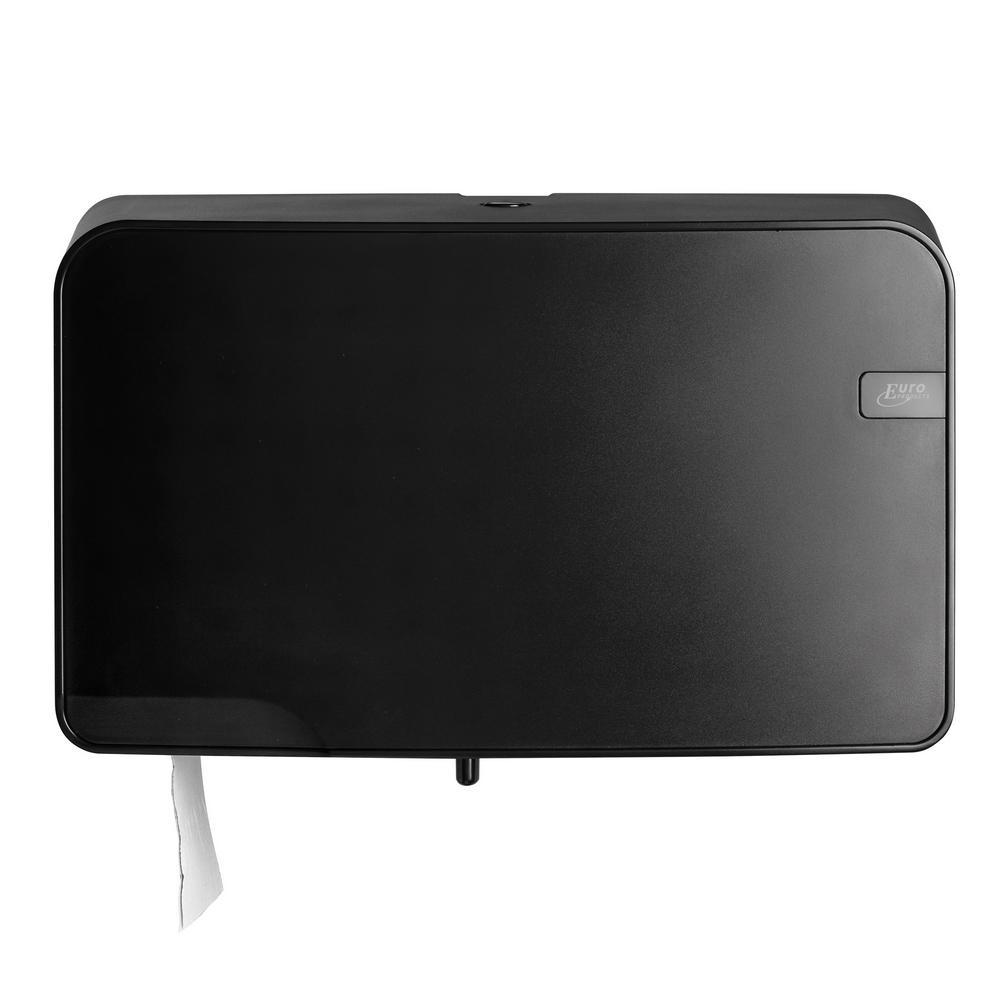 Quartz Black toiletrolhouder Duo Mini Jumbo