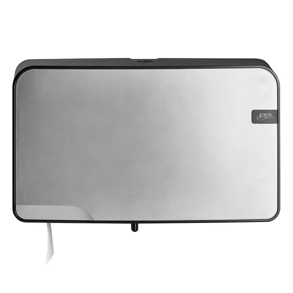 Quartz Silver toiletrolhouder Duo Mini Jumbo