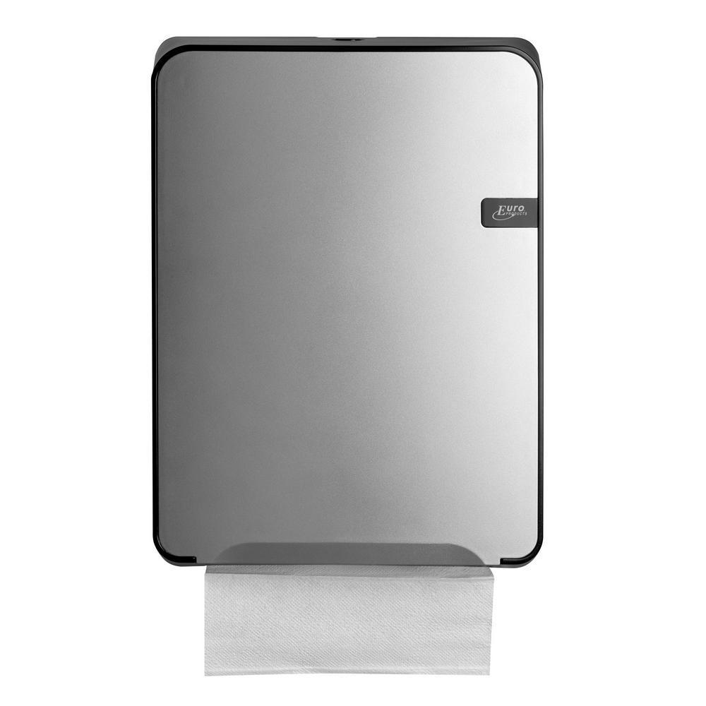 Quartz Silver handdoekdispenser Multifold