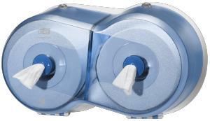 Tork SmartOne Double Twin toiletpapier dispenser blauw