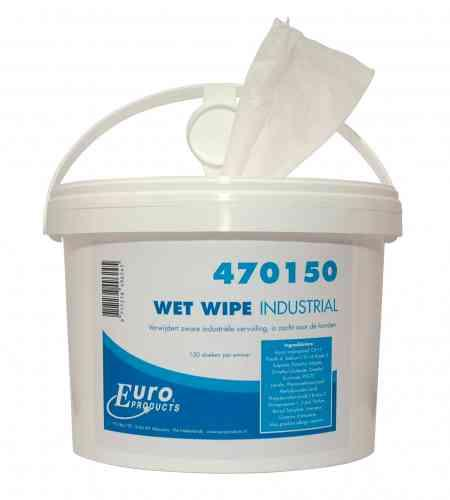 Wet Wipes Industrial, 4 emmers a 150 doeken