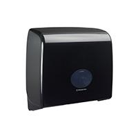 AQUARIUS* Toiletpapierdispenser mini duo jumbo zwart