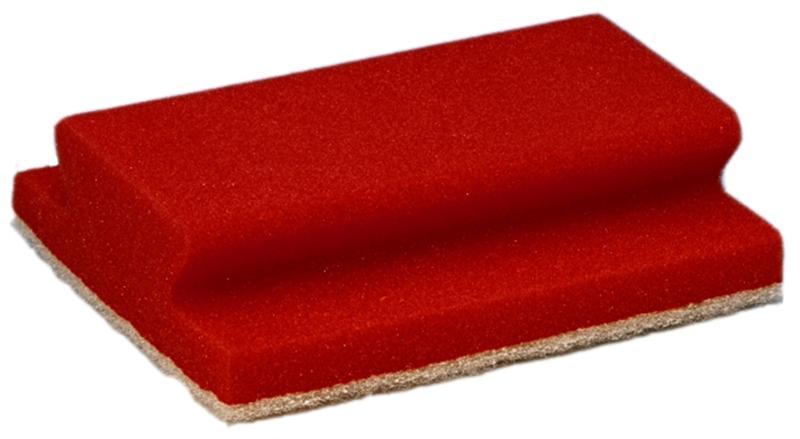 Taski jumbo spons rood met krasvrije pad, 10 stuks