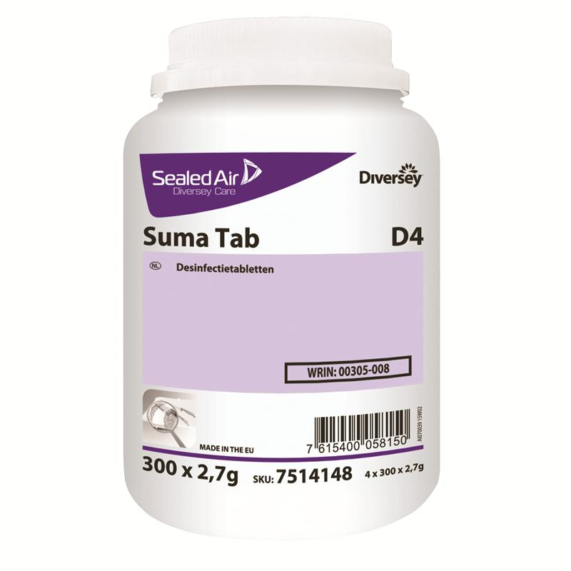 Suma Tab D4 desinfectietablet, pot 300 stuks