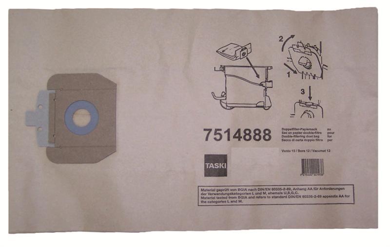 Taski stofzakken papier Vento 15, 10 stuks