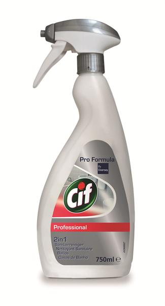 Cif Pro Formula 2 in 1 sanitairreiniger, 6 x 750 ml sproeiflacon