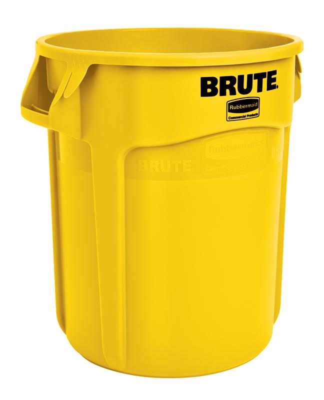 Rubbermaid Brute container 75,7 ltr geel
