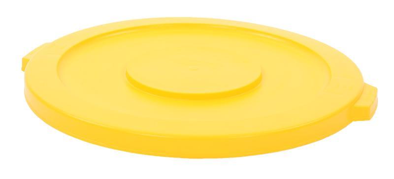 Rubbermaid Brute deksel rond 121,1 ltr geel
