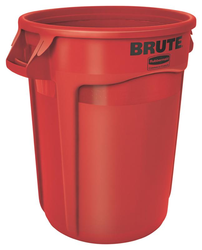 Rubbermaid Brute container 121,1 ltr rood