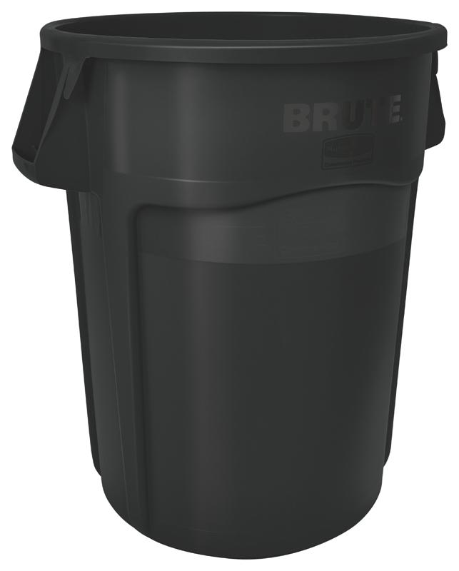 Rubbermaid Brute container 166,5 ltr zwart
