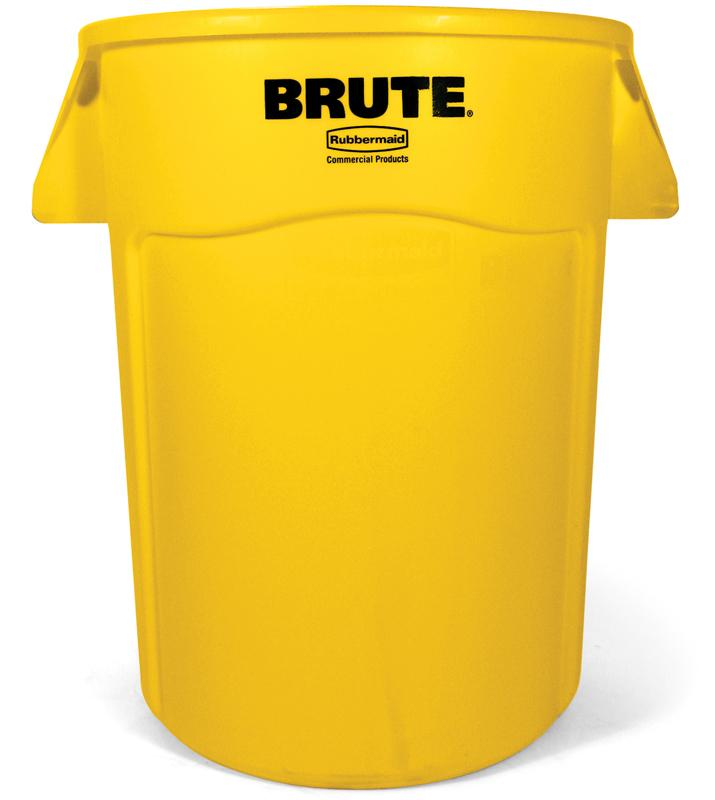Rubbermaid Brute container 166,5 ltr geel