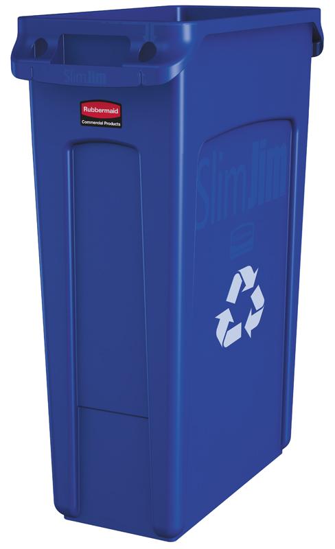Rubbermaid Slim Jim container 87 ltr blauw