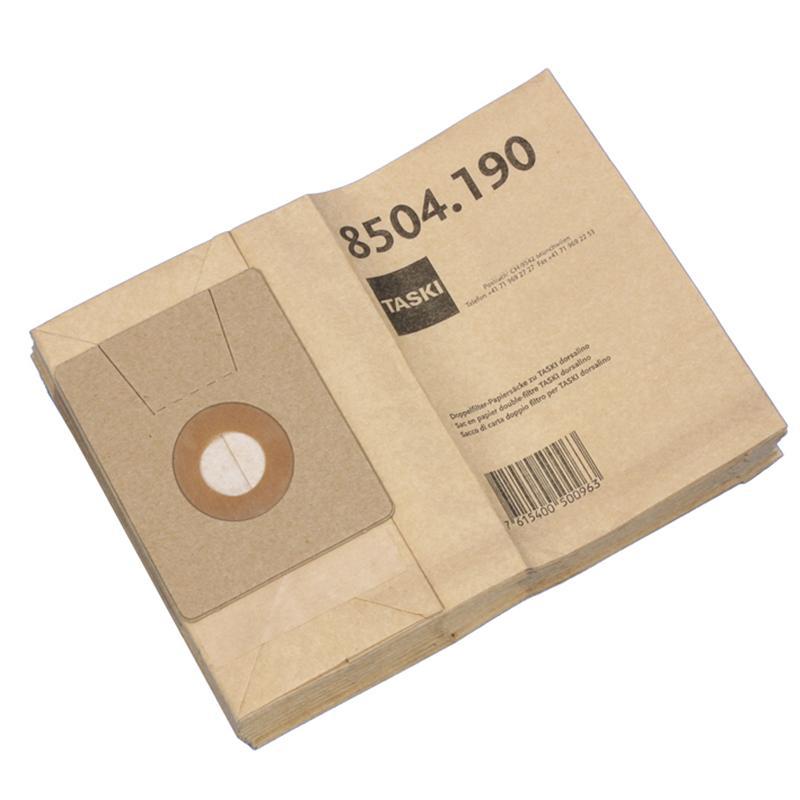 Taski dubbelfilter stofzak papier (Dorsalino), 10 stuks