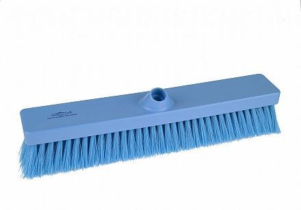 Hillbrush bezem blauw plat 45,7 cm medium vezel