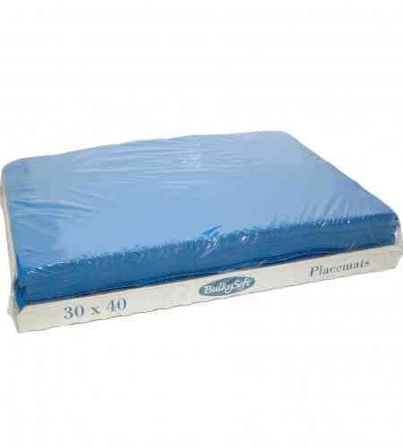 Placemats blauw 30 x 40 cm, 2000 stuks