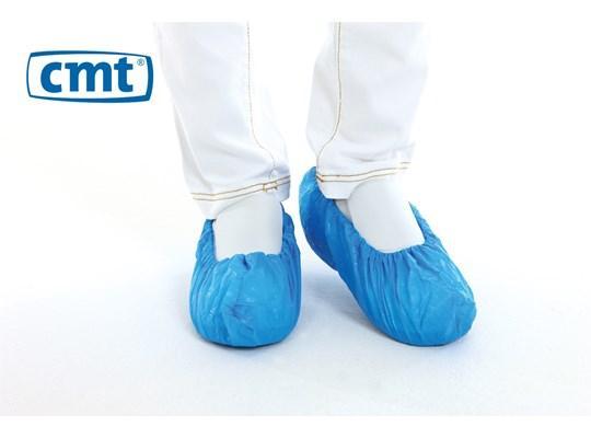 CMT schoenovertrek blauw 410 x 150 mm, 100 stuks