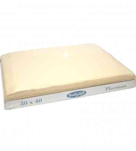 Placemats cream 30 x 40 cm, 2000 stuks