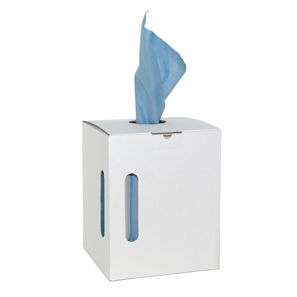 Poetsdoek X-Wipe blauw op rol, dispenserbox 300 doeken