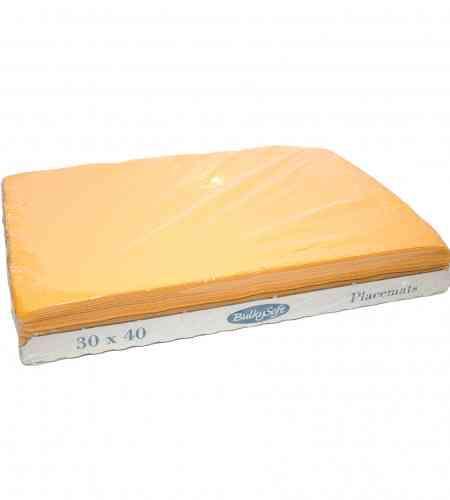 Placemats geel 30 x 40 cm, 2000 stuks