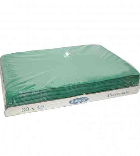 Placemats groen 30 x 40 cm, 2000 stuks